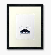 Delorean (CMYK) Framed Print