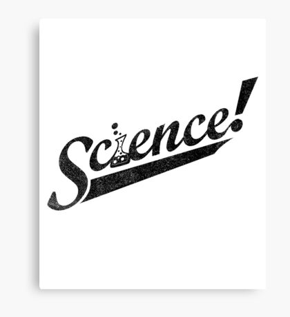 Team Science ! (Black Ink Edition) Canvas Print