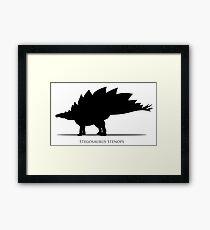 Stegosaurus dinosaur silhouette Framed Print