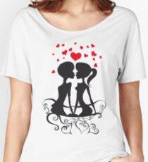 Love Couple cartoon style Women's Relaxed Fit T-Shirt