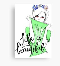Life is Beautiful - Cosmopolitan Sweater Girl  Canvas Print