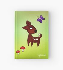 Deer and butterfly *glück Hardcover Journal