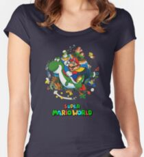 Super Mario World Women's Fitted Scoop T-Shirt