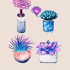 Succulent Cactus Pattern by Ruta Dumalakaite