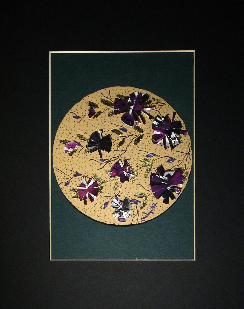 The Purple Flowers  by Evelyn Reinprecht