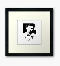Rick Astley Framed Print