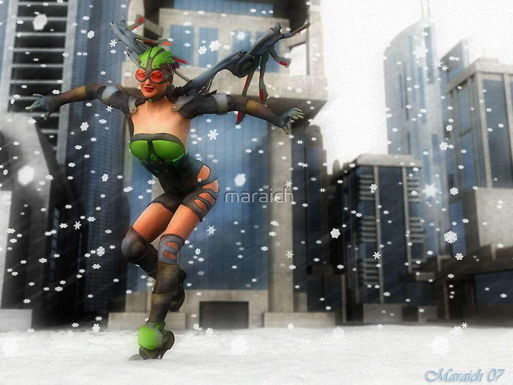 Dystopian Christmas Angel by maraich