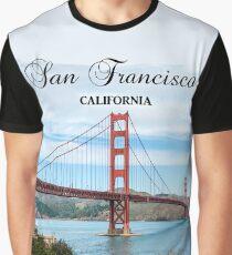 San Francisco, California - Golden Gate Bridge Graphic T-Shirt