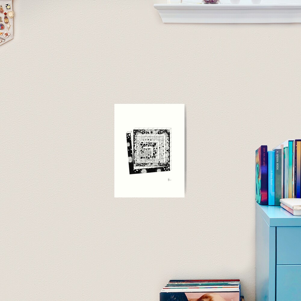 Würfelreihe - Dices in a row Kunstdruck