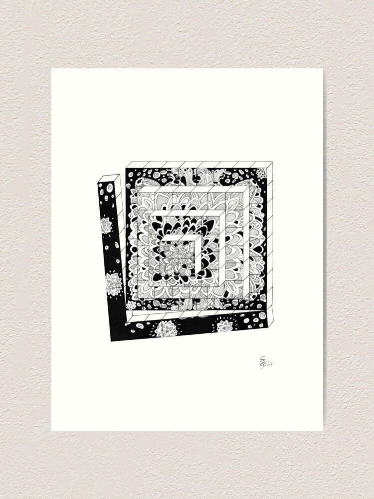 Alternative Ansicht von Würfelreihe - Dices in a row Kunstdruck