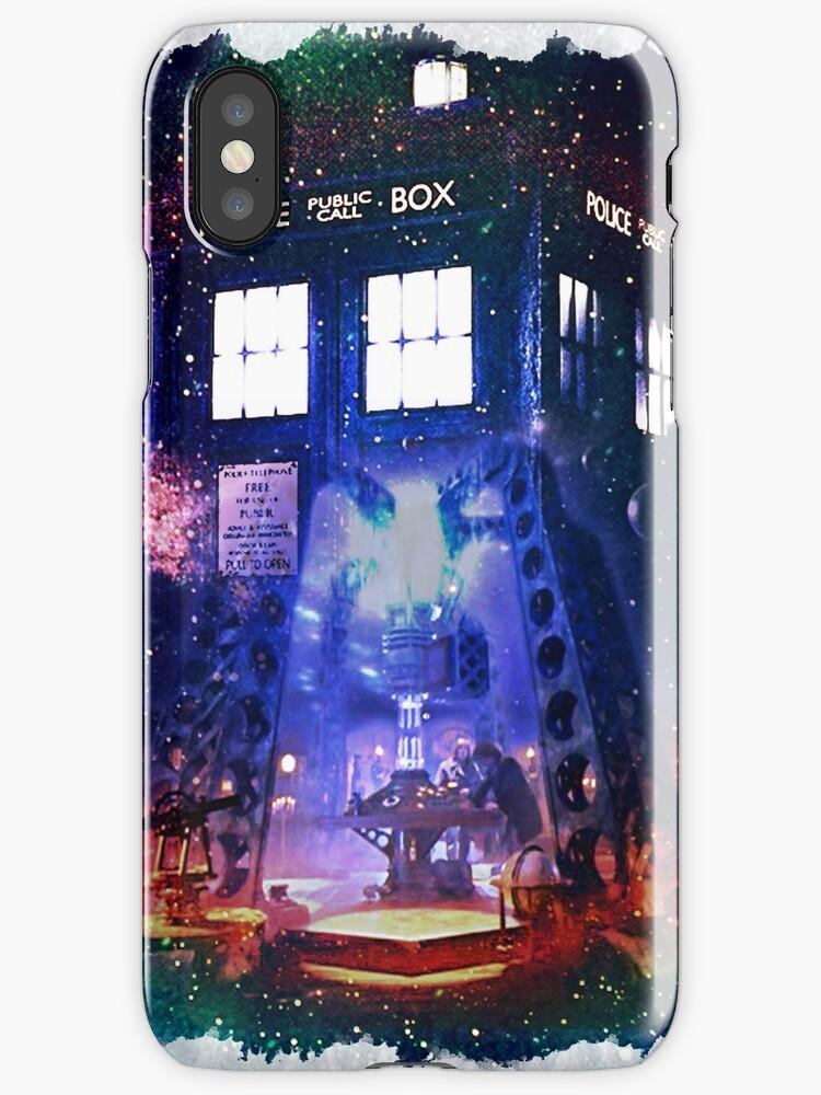 Nebula Public call Box In Space iPhone Case by DarrellHo