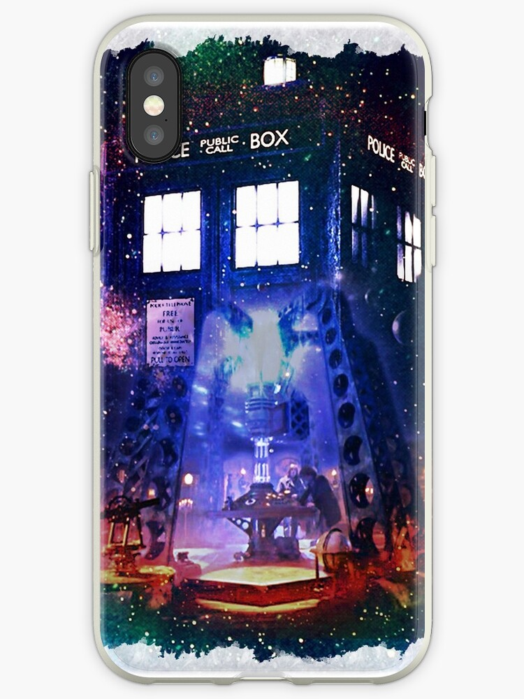 Nebula Public call Box In Space iPhone Case by DarrellHo