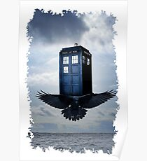 Police Call Box Flying with the Bird iPhone 6 Case Poster