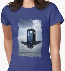 Police Call Box Flying with the Bird iPhone 6 Case Womens Fitted T-Shirt