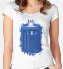 blue Box iPhone 6 plus case Women's Fitted Scoop T-Shirt