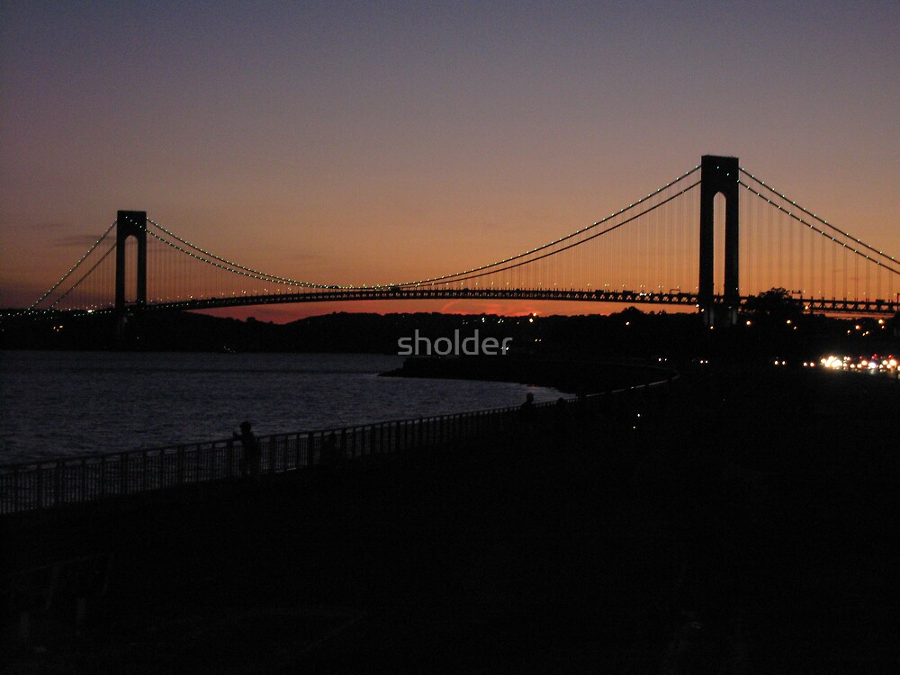 Twilight Time at the Bridge by sholder