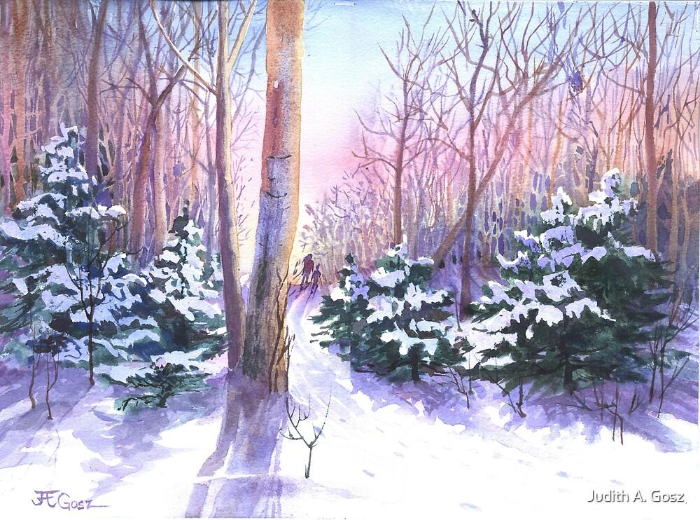 Winter Skiers by Judith A. Gosz