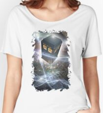 time lord blue box iPhone 6 plus cases Women's Relaxed Fit T-Shirt