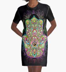 Hamsa Fatma Handpsychedelisches Amulett T-Shirt Kleid