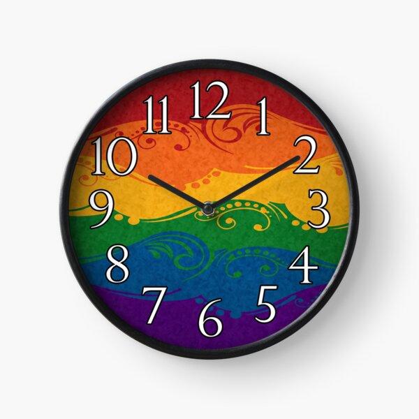 Ornamental Rainbow Flag Clock