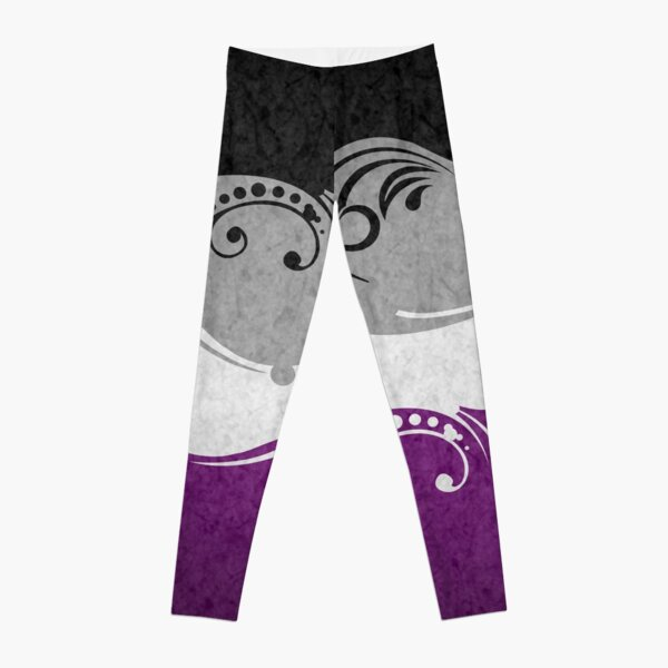 Asexual Ornamental Flag Leggings