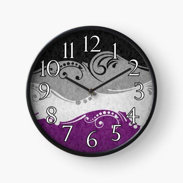 Asexual Ornamental Flag Clock