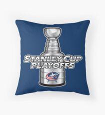 Columbus Blue Jackets NHL Playoffs Throw Pillow