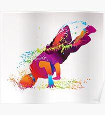 Breakdancer Flow Poster