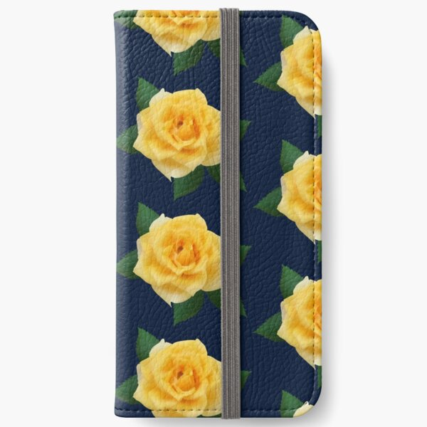 Yellow rose iPhone Wallet