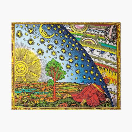 Flammarion engraving in Color Art Board Print