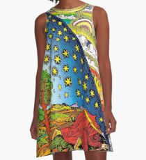 Flammarion engraving in Color A-Line Dress