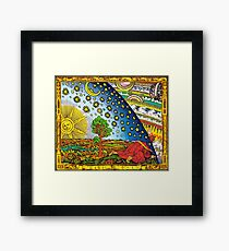 Flammarion engraving in Color Framed Print