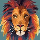 Low-poly Lion by elevenfeathers