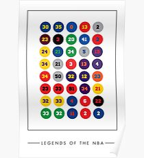 Legends of the NBA ~ 80s, 90s 00s, 10s Poster