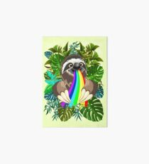 Sloth Spitting Rainbow Colors Art Board