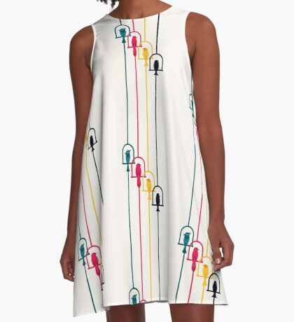 Chime in CMYK A-Line Dress