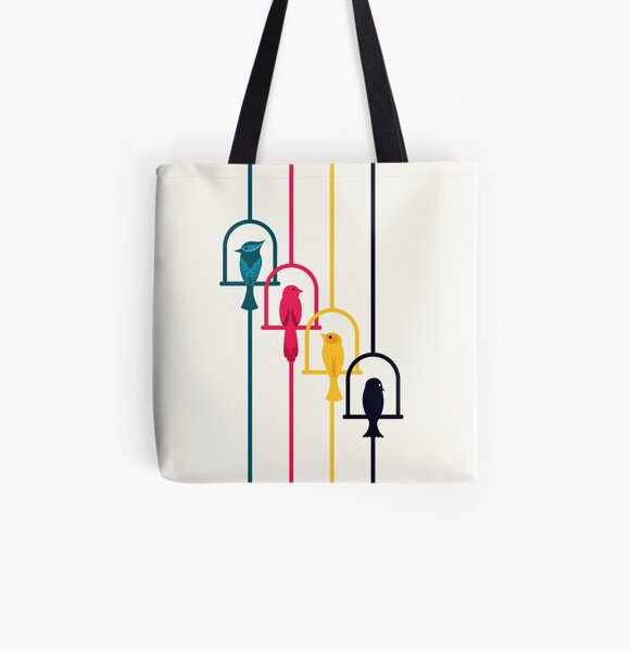 Chime in CMYK All Over Print Tote Bag