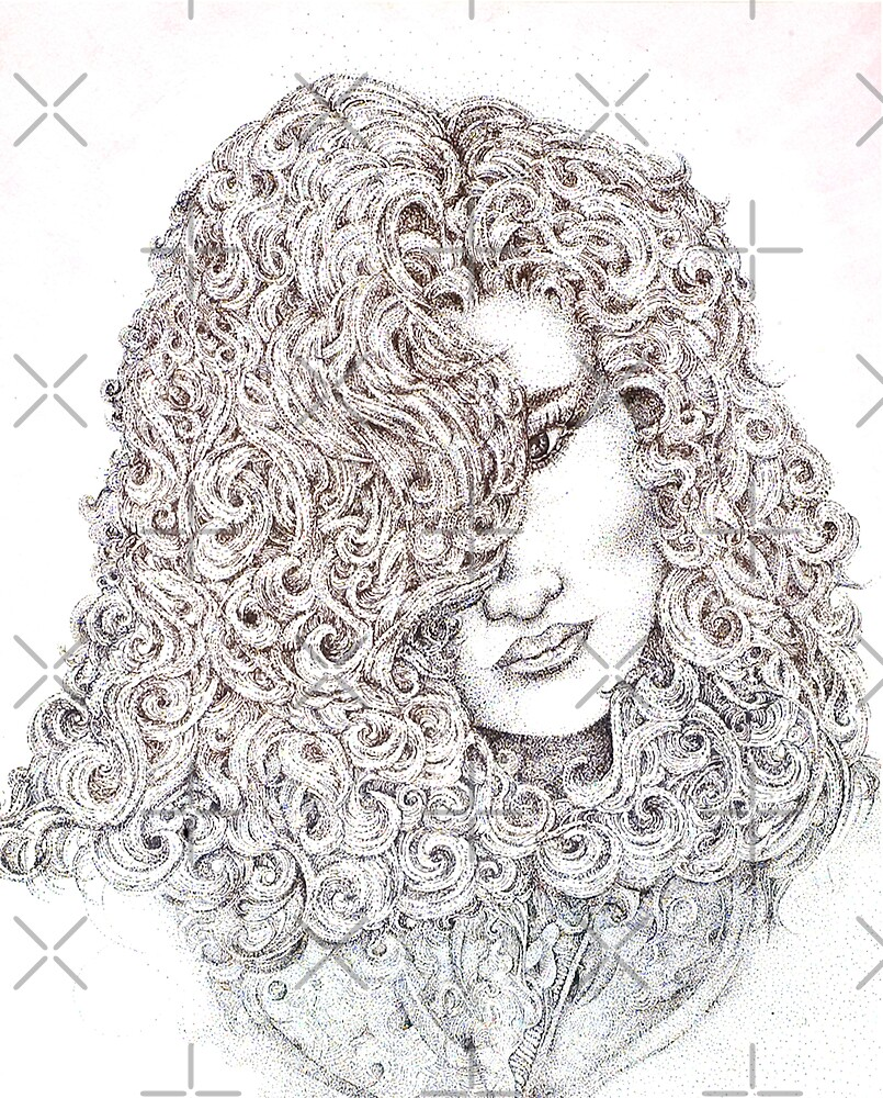 Curls, Mixed Media by Danielle Scott