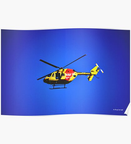 SURF RESCUE HELICOPTER Poster