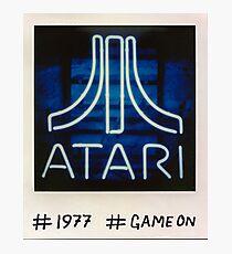 Atari Logo Neon Sign Polaroid Photo Photograph #1977 #GameOn Photographic Print
