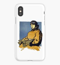 Vintage Automobile Driver Goggles, Helmet and Gloves iPhone Case/Skin