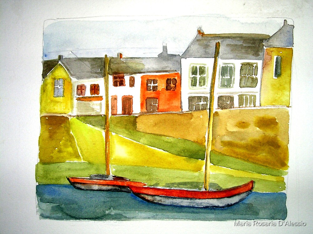 the marina - cornwall village by Rosaria  D'Alessio