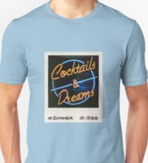 Cocktails and Dreams 80s Polaroid Unisex T-Shirt