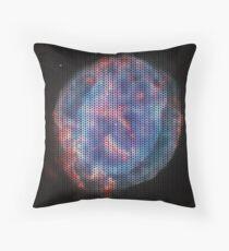 Knitted Little Gem Nebula Throw Pillow