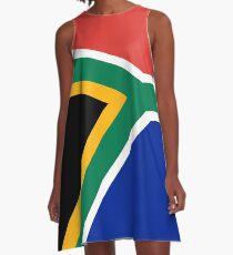 Vestido acampanado Bandera sudafricana - Color y escala auténticos