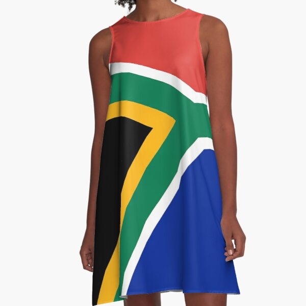 South African flag A-Line Dress