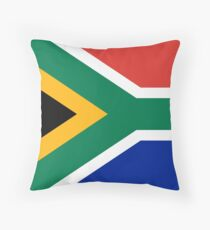 South African flag - Authentic color and scale Throw Pillow