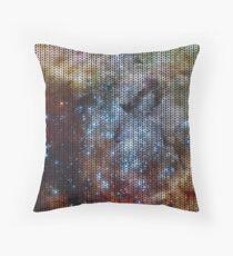 Knitted 30 Doradus Nebula Throw Pillow