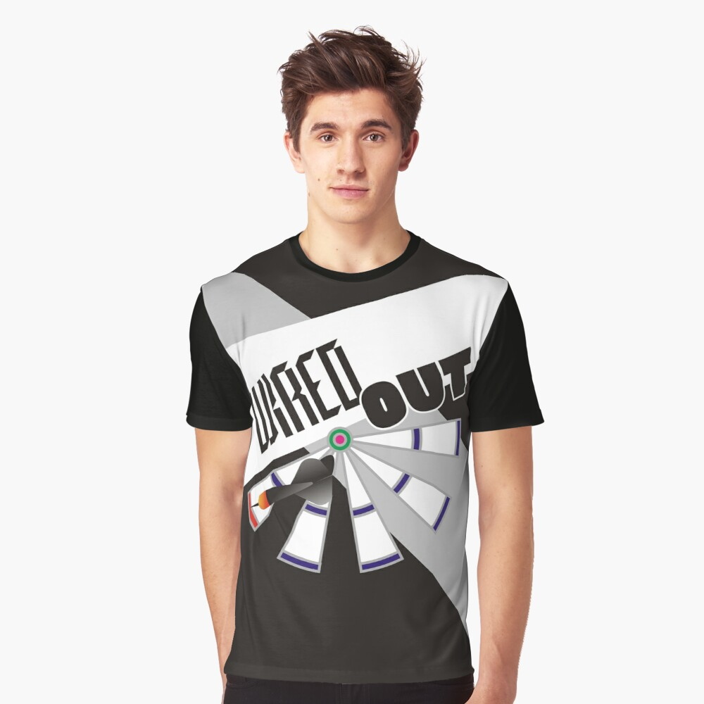 Wired Out Darts Team Graphic T-Shirt Front