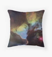 Knitted Lagoon Nebula Throw Pillow